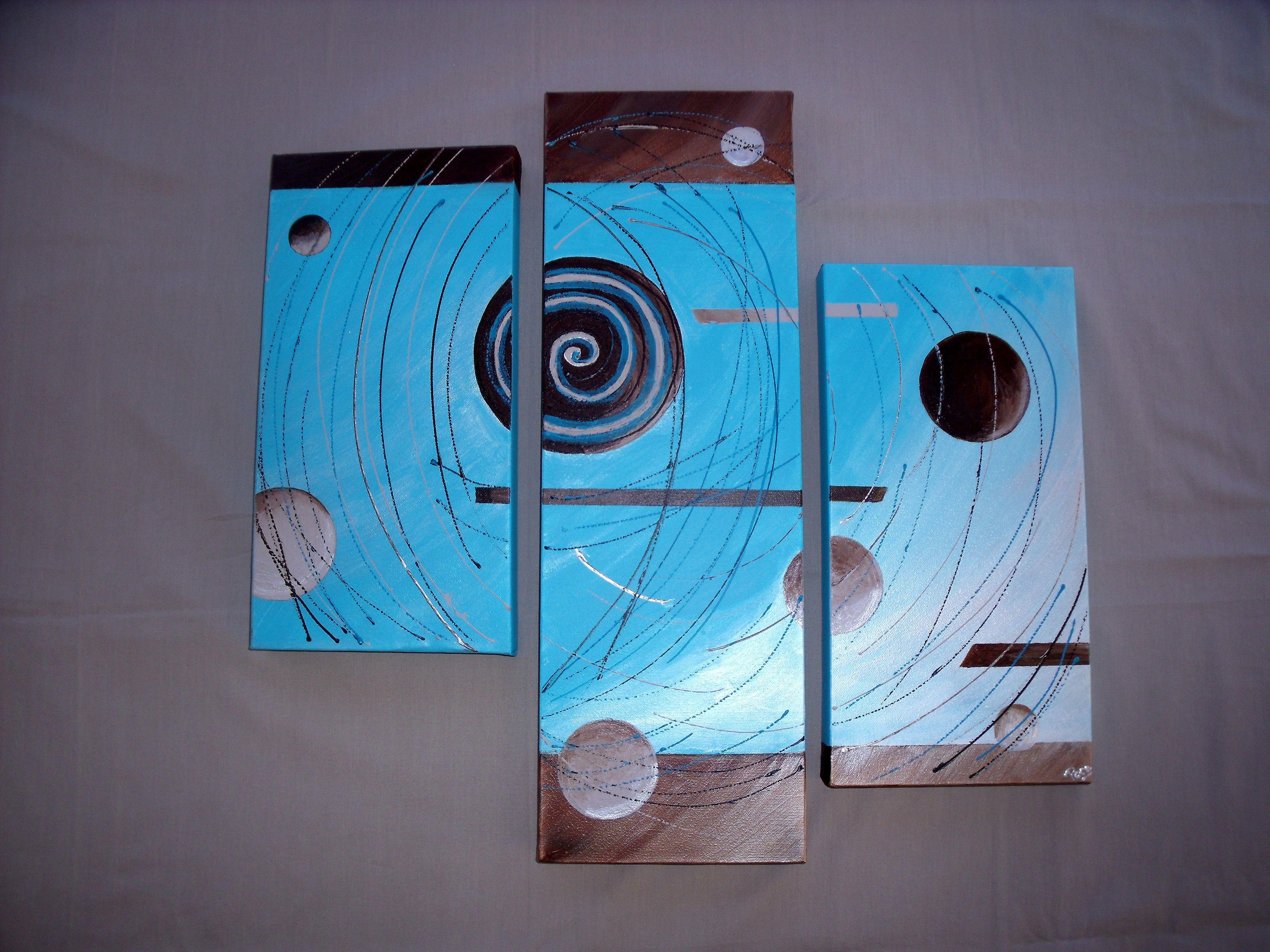 Tryptiques modernes et tendances - Triptyque abstrait ...